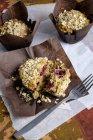 Lampone muffin con avena — Foto stock
