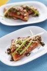 Oriental marinados de trucha asalmonada - foto de stock