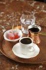 Турецьку каву зі склянкою води — стокове фото