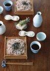 Macarrão de trigo sarraceno asiáticos — Fotografia de Stock