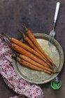 Carottes rôties au four — Photo de stock