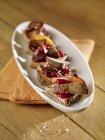 Canaps con fegato di pollo — Foto stock