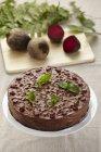 Remolacha y pastel de chocolate - foto de stock