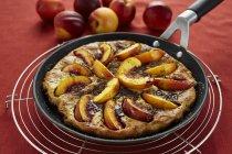 Домашний пирог нектарин — стоковое фото