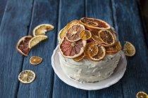 Gâteau aux agrumes séchés — Photo de stock