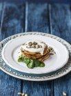 Gluten-free pumpkin pancakes — Stock Photo
