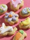 Biscoitos de Páscoa decorados — Fotografia de Stock