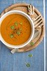 Cream of tomato soup — Stock Photo