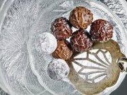 Praline al tartufo con cioccolato — Foto stock