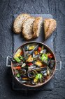 Moules grillées au garlic.jpg — Photo de stock