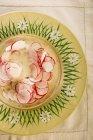 Salade de radis sur plaque rustique — Photo de stock