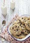 Biscotti di pepita di cioccolato con le castagne — Foto stock