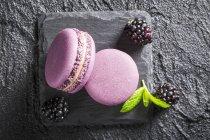 Рожевий Blackberry десертів — стокове фото