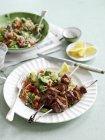 Lamm-Kebabs mit harissa — Stockfoto