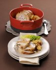 Veal roulade with potatoes — Stock Photo