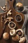 Frische Champignons mit Scheiben — Stockfoto