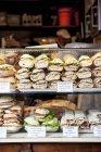 Різні багет бутерброди — стокове фото