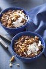Quinoa muesli with chocolate and coconuts — Stock Photo