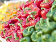 Orange with red and green peppers — стоковое фото