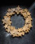 Guirlanda feita de pão de gengibre — Fotografia de Stock
