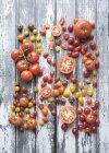 Різноманітні сорти помідорів — стокове фото