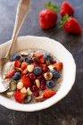 Pudding chia con bacche — Foto stock