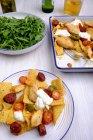 Uno-pentola nachos con pollo — Foto stock