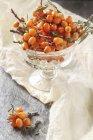 Bacche di olivello spinoso-fresco — Foto stock