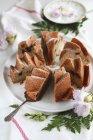 Torta di mele puro Bundt — Foto stock