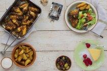 Almoço de asas de frango — Fotografia de Stock