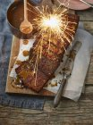 Sticky Toffee Pudding — Stock Photo