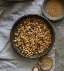 Calabaza asada semillas - foto de stock