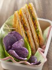 Sandwich au cheddar et bacon — Photo de stock