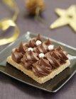 Хрустящие торт шоколада — стоковое фото