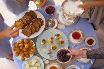 Партія стіл із закусками — стокове фото