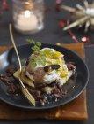 Meurette uovo con tartufo — Foto stock