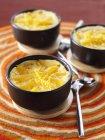 Clementina e gengibre cozido ovo cremes — Fotografia de Stock