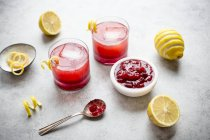 Cranberry Sauce and Lemon — Stock Photo