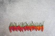 Свежий красный стручковый перец — стоковое фото