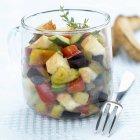 Reblochon insalata e verdura — Foto stock