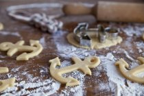 Anchor-shaped cookies — Stock Photo