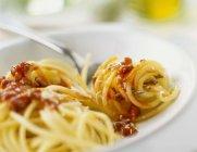 Pasta degli Spaghetti Bolognese — Foto stock