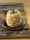 Moka cake with coffee sauce — Stock Photo
