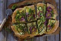 Pizza com courgette grelhada — Fotografia de Stock