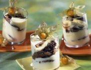 VENITIEN Dessert in Gläser — Stockfoto