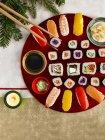 Maki e nigiri sushi — Foto stock