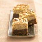 Torta di formaggio aromatizzato alle mandorle — Foto stock