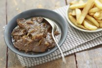 Carbonnade flamande in plate — Stock Photo