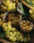 Grape jam in jars — Stock Photo
