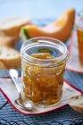 Barattolo di marmellata di melone — Foto stock